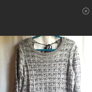 Maurice's grey sweater with metallic thread